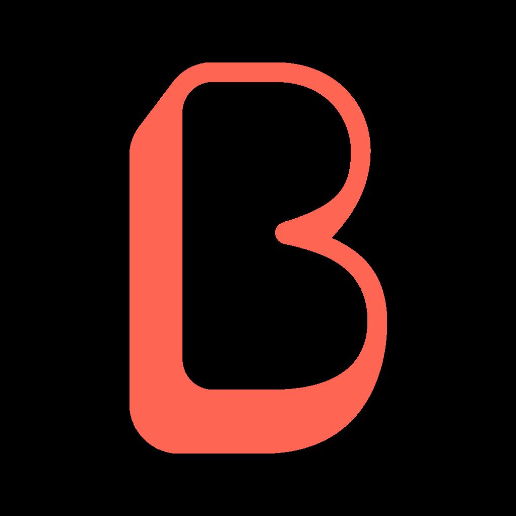 Beforepay B icon in orange